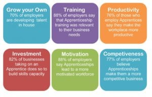 Stats on Employers views of Apprentices