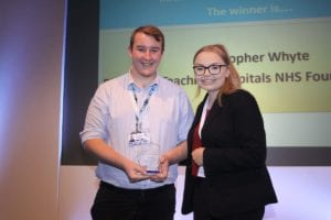 Chris Whyte and Bethany Egerton at the NW Skills Development Network's Apprentice Awards