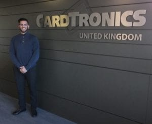 Irslan Ahmed at the Cardtronics office