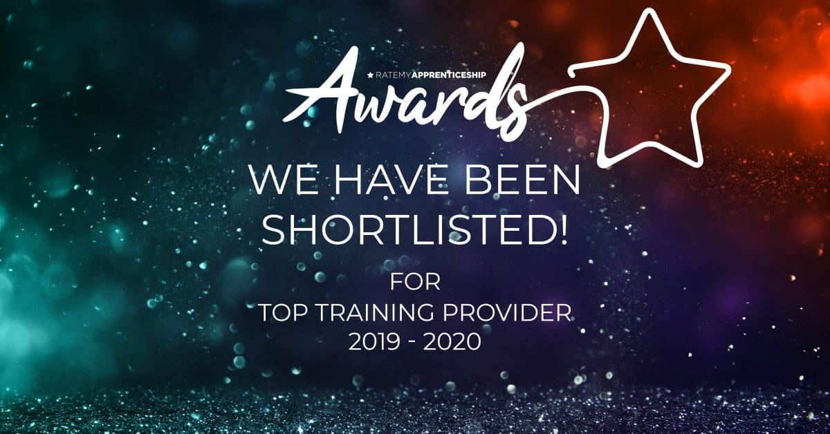 We've been shortlisted for the Top Training Provider for Rate My Apprenticeship Awards 2019