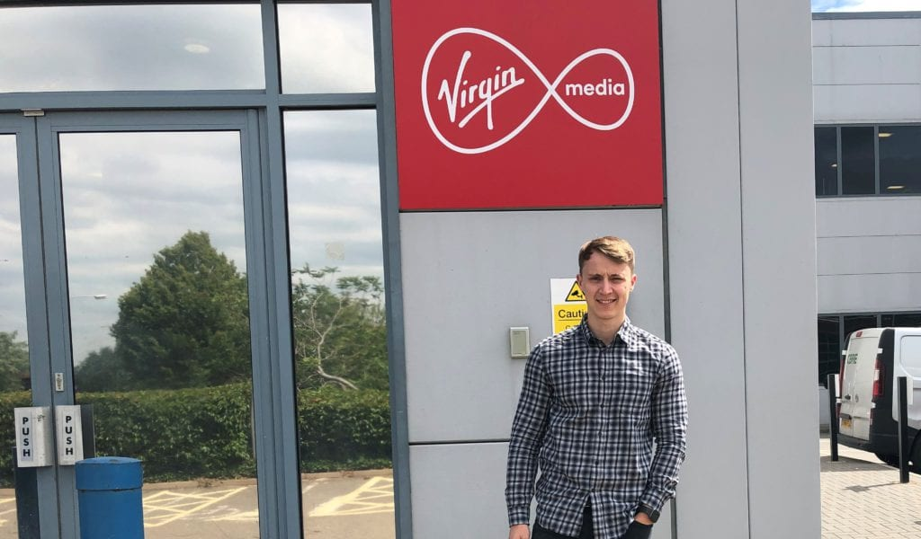Tom Williams at the Virgin Media office