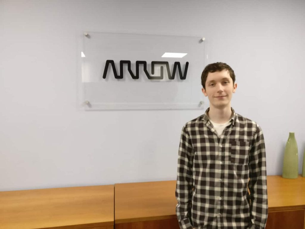 Luke McGuinness at the Arrow ECS offices in Harrogate