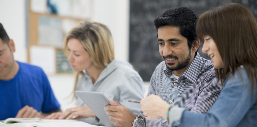 Apprentices in classroom