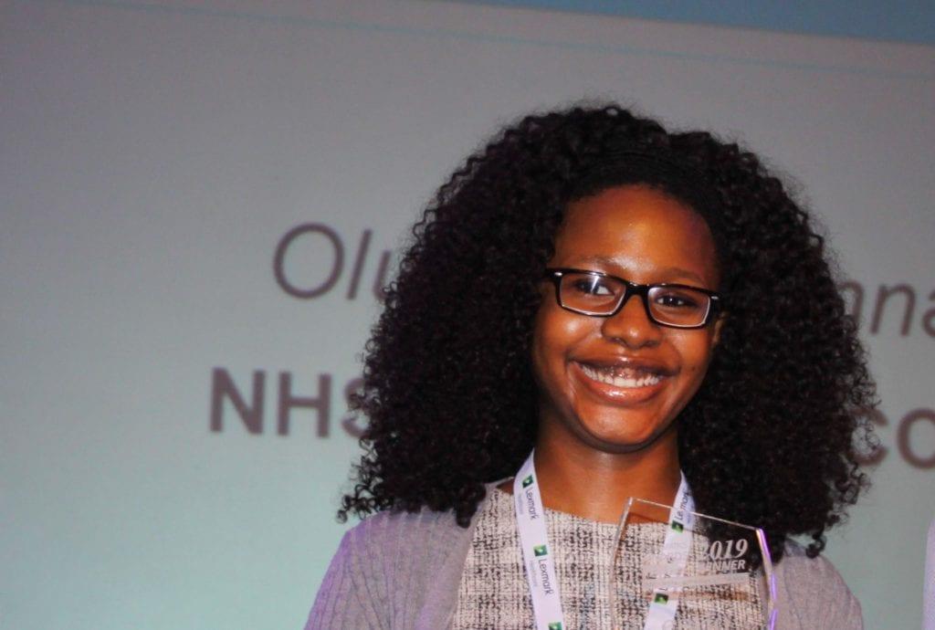 Oluchi Ogbonna at the awards ceremony