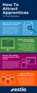 How To Attract More Apprentices Infographic